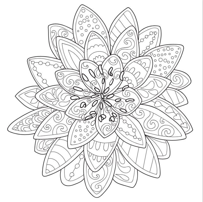 3 Printable Coloring Pages Zentangle Coloring Book | Etsy