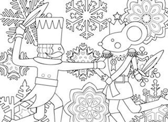 Printable Coloring Page Zentangle Coloring Book Nutcracker