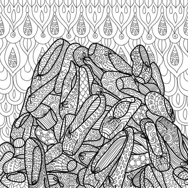 Danza de Zentangle página imprimible para colorear libro para   Etsy