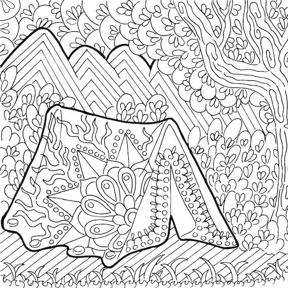 Zentangle de página imprimible para colorear libro para | Etsy