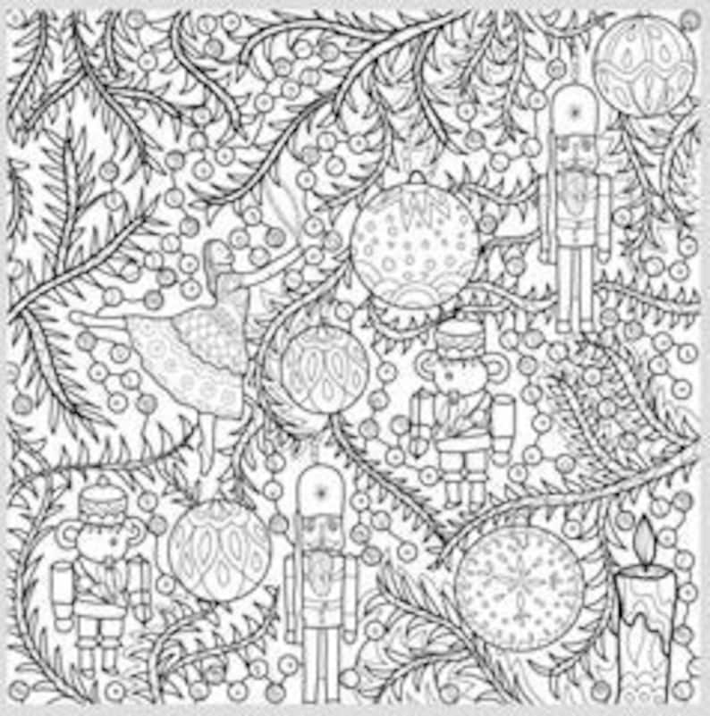 - 2 Printable Coloring Pages Zentangle Coloring Book Nutcracker Etsy
