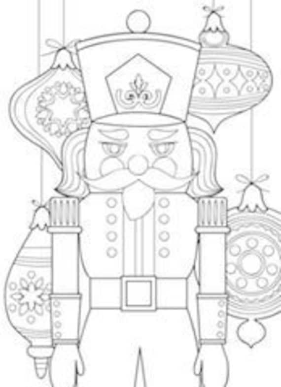 - 5 Printable Nutcracker Coloring Pages Zentangle Coloring Book Etsy