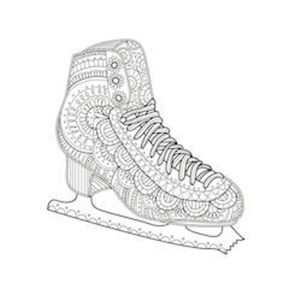 Figure Skater Coloring Page (With images) | Sports coloring pages, Coloring  pages, Olympic crafts | 570x570