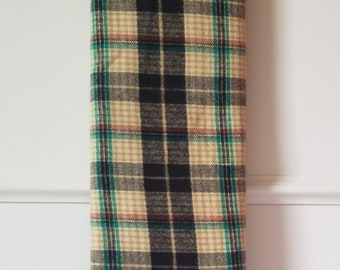 Rust scarf fabric woven flannel shirt fabric By the Yard Brushed Cotton@ Plaid Flannel and Blue plaid Olive