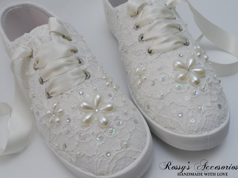 Wedding Sneakers for Bride / Ivory