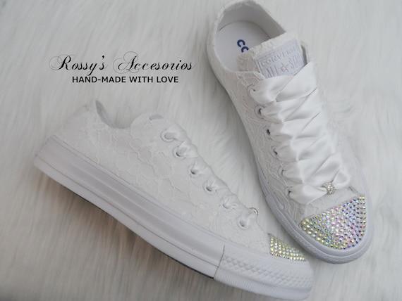 Wedding AB Crystal Converse / White