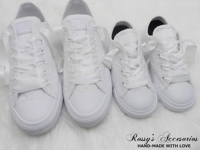 Custom Matching White Converse / White