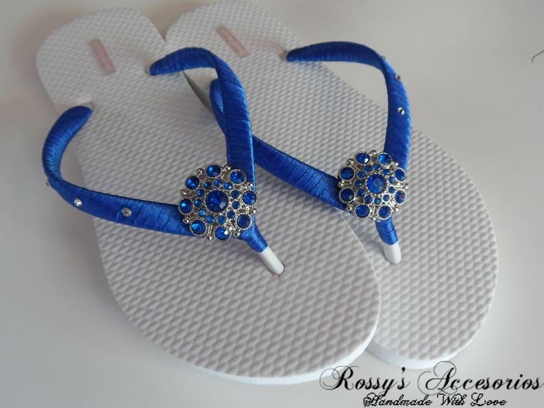 0bb45e48d931 Royal Blue Party Flip Flops   Bridal Shower flip flops   Beach
