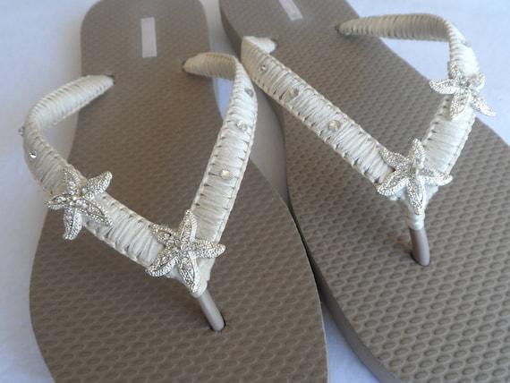 Wedding Shower Starfish Sandals Bridal Bridal Flops Wedding Flops Sandals Wedding Flip Color Flip Party Sand Bridesmaids Beach wYFrxqvYB