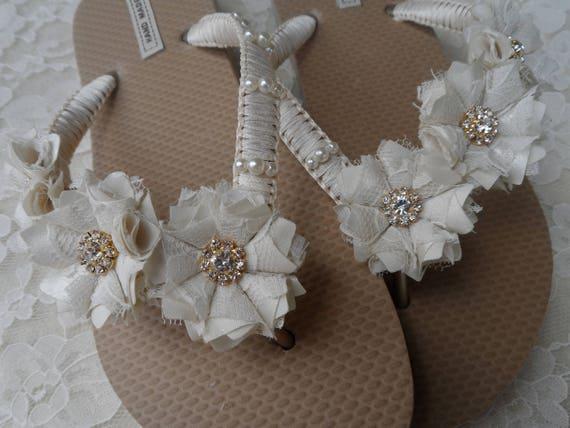 Beach Shower Gift Flip Gold Flops Bridal Wedding Flip Rhinestones Ivory Bridal Flops Bride Pearl Flip Flops Flops Shoes Wedding Flip 8xBZ8HS