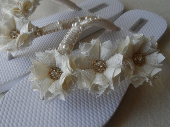Rhinestones Flops Flip Bridesmaids Flip Bridal Wedding Pearl Flops Ivory Shoes Bridal Flowers Sandals Flops Flip Ivory Flops Flip p8PYSY