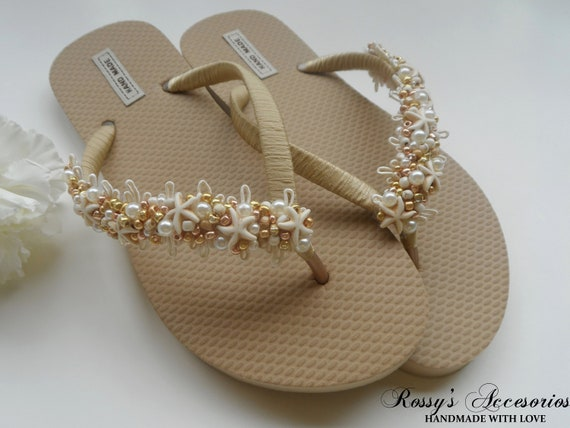 Shower Flip Glass Bride Natural Flops Gold Pearls Flip Flip Gift Party Flops Wedding Beach Starfish Flops Wedding Bridal 8Y8Tq