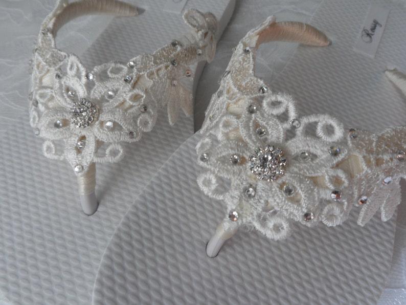 9dec47633903 Ivory Venice Lace Flip Flops   Bridal White Flip flops