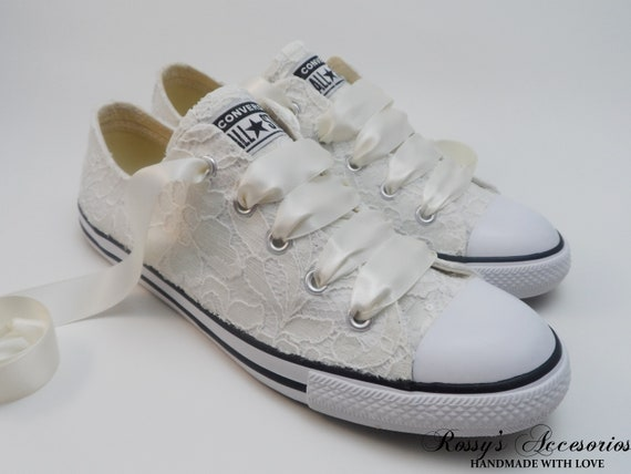 6ae07e1781463 Wedding Converse / Ivory Sequin Lace Converse /Wedding Lace Converse /Gift  for Bride /Bridal Converse / Wedding Converse Tennis Shoes.