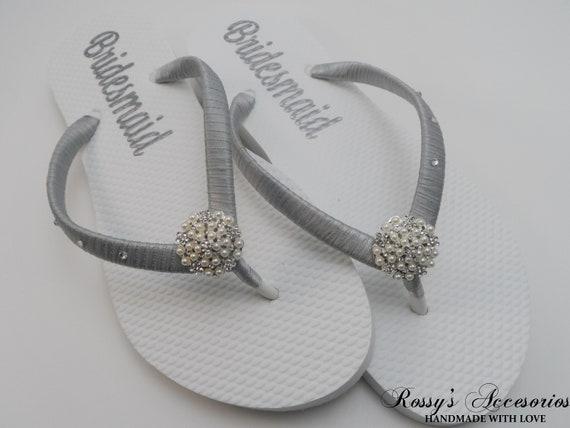 6d3241d67b704 Wedding Party Flip Flops   Bridal Shower   Beach Wedding