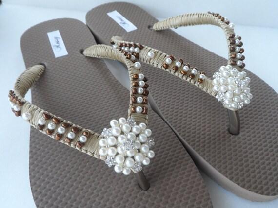 Summer Flops Bronze Flops Flops Flip Beach Flip Bridesmaids Bridal Flops Wedding Flip Flip qY0nwE
