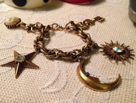 Huge Funky Fabulous Charm Bracelet - image 1