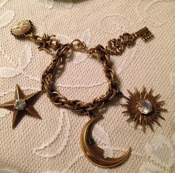 Huge Funky Fabulous Charm Bracelet - image 2