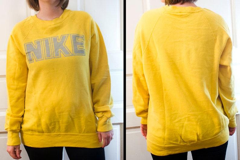 373de9f3d 80s NIKE sweatshirt Vintage yellow pullover 1980s sweater | Etsy