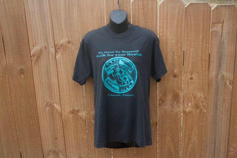 7151fefee 80s Cibecue Arizona shirt Indian chief t-shirt Walk for | Etsy