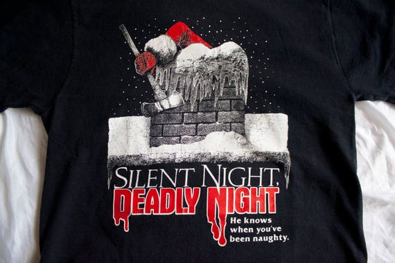 90s Silent Night Deadly Night shirt - Vintage SNDN