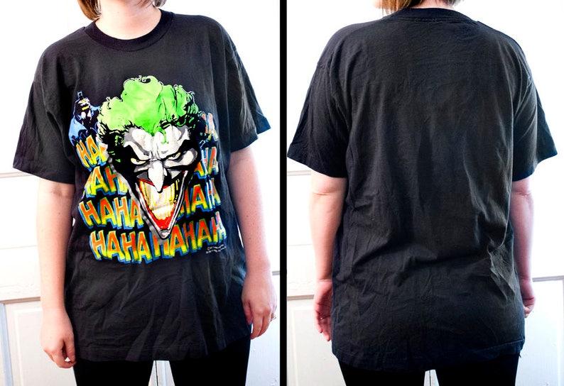 72f8a6a2a 80s Batman Joker shirt Vintage DC Comics Haha tee RARE | Etsy