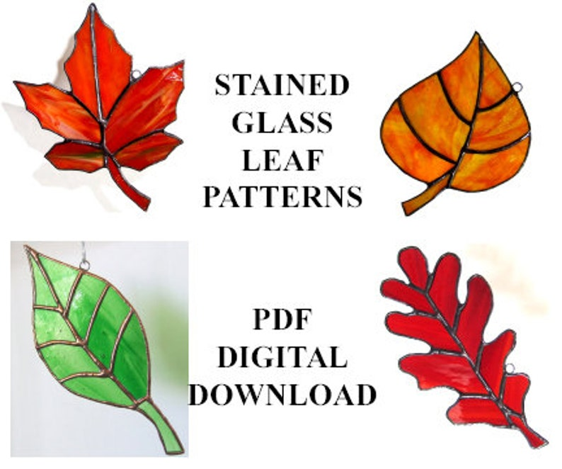 Stained Glass Leaf PATTERNS  Celebrate Autumn With These Four image 1