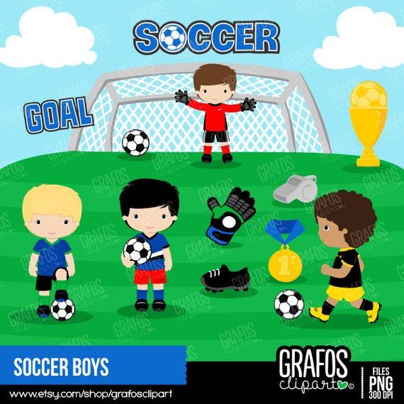 Soccer ClipartGioco Boys Di Digital Clipart Sport SetCalcio MqzSUVGp