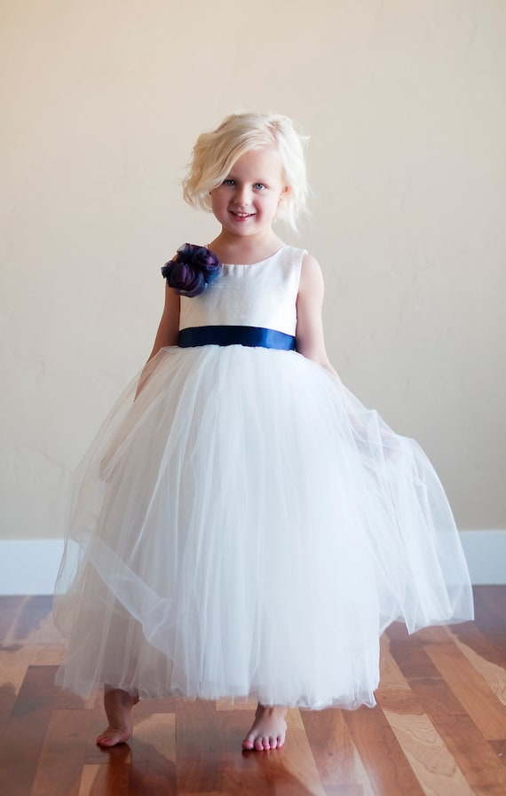 Flower girl dress ivory flower girl dress silk flower girl etsy image 0 mightylinksfo