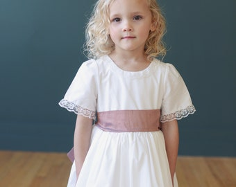 The Hermione Cotton and Lace Flower Girl Dress