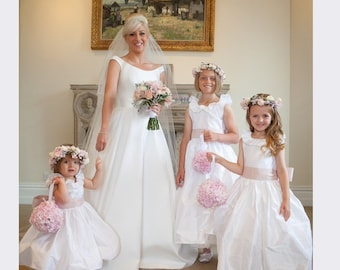 The Pure Silk Ruffled Flower Girl Dress in many colours