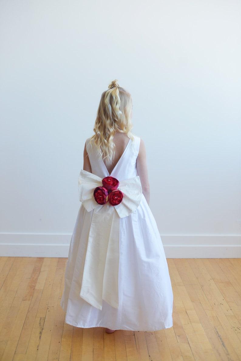 26e7af19297 The Verity Junior Bridesmaid Dress White   Ivory Flower Girl