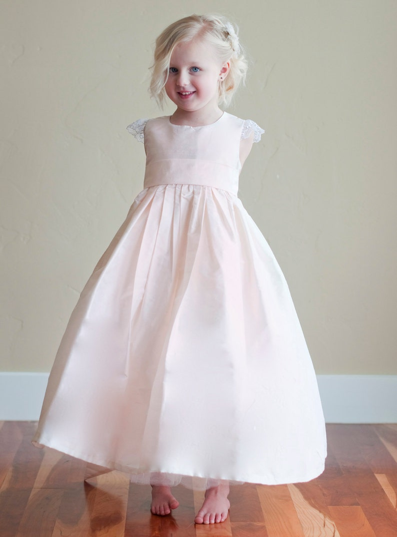 0c3dae6b5be The Darcy Flower Girl Dress in Blush Pink available in 140