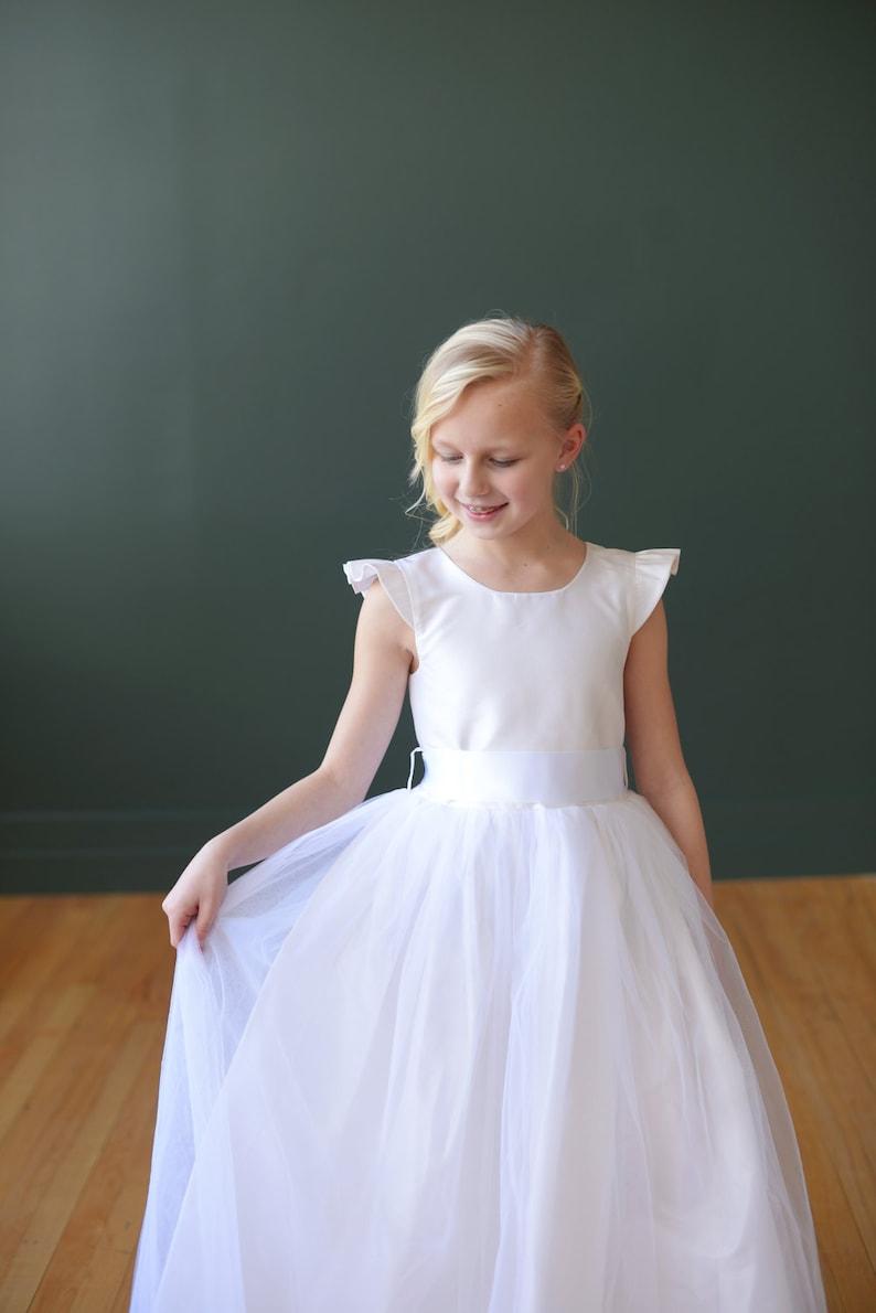 00290f419 Flower Girl Dress : Pure silk flower girl dress in ivory or | Etsy