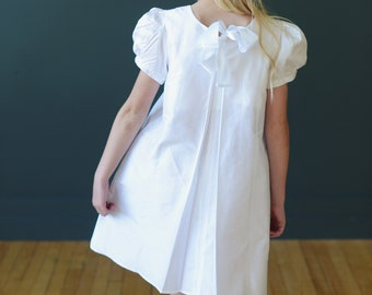 The Amie Flower Girl Dress in Pure Silk
