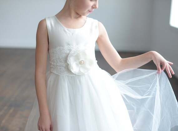 The Camellia Flower Girl Dress and First Communion Dress