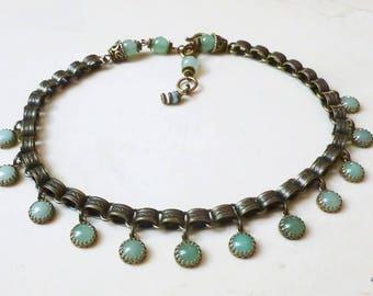 Necklace - Dancing Green