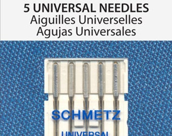 Size 110/18 Sewing Machine Needles Schmetz Universal 5-pk Art 1728
