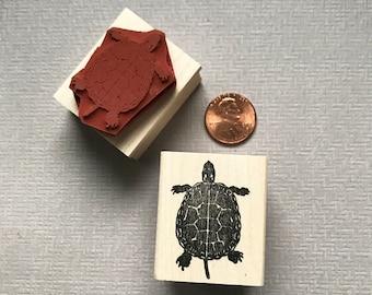 Baby Sea Turtle with Starfish Rubber Stamp Ocean Scene  K21608 WM