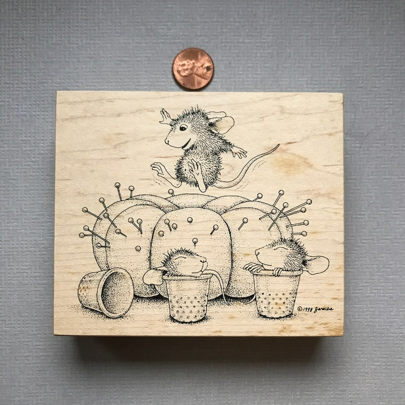 Tree and Sewing Rubber Stamps Football Vintage Retired House Mouse Love
