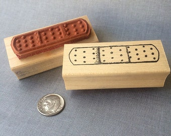 Band-Aid Rubber Stamp