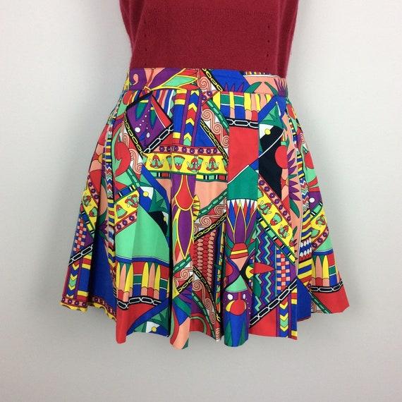 Vintage HEAD tennis skirt, fun tennis skirt, pleat