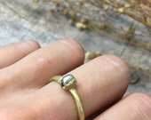 ring with little gray pearl, gray river pearl, solitary ring, young couple proposal ring, minimal pearl ring, love ring, natural pearl ring