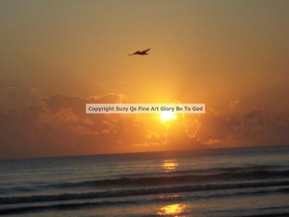 Talking With God Art God Nature Sunrise Beach Instant Etsy