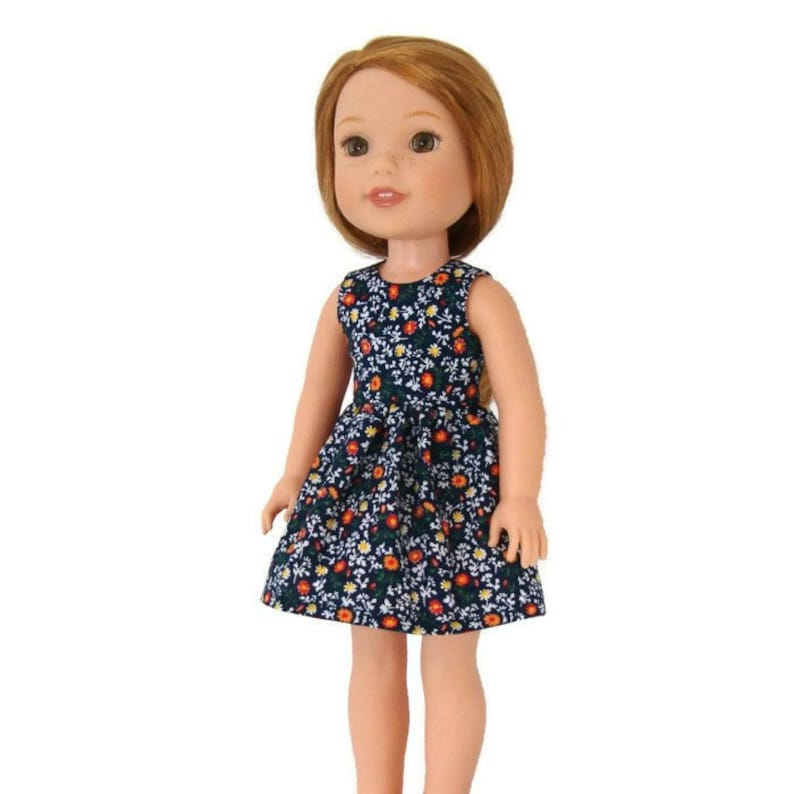 Spring Blue Doll Dress Clothes Fits American Girl Wellie Wisher Dolls