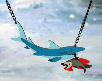 Shark / Bait Necklace - Ocean Collection