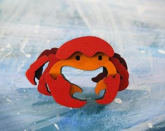 Crab Brooch - Ocean Collection