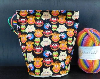 R/M Packed muppets project bag for knitting/crochet/crafts
