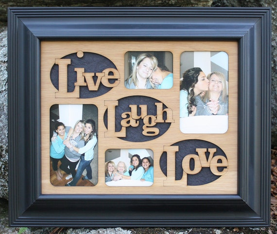 11x14 Live Laugh Love Wood Mat Collage Insert For Frame Etsy