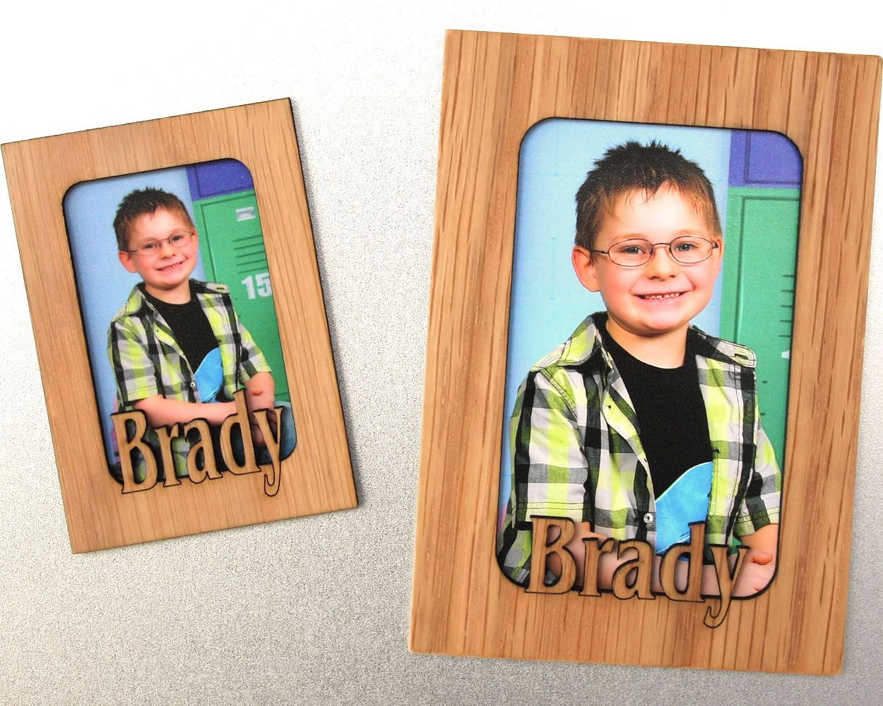Refrigerator Magnets Personalized Picture Frame Magnetic Etsy